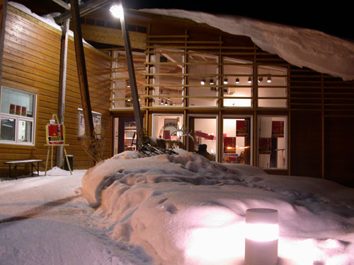 Even in winter, Dänojà Zho is a welcoming place for many activities.