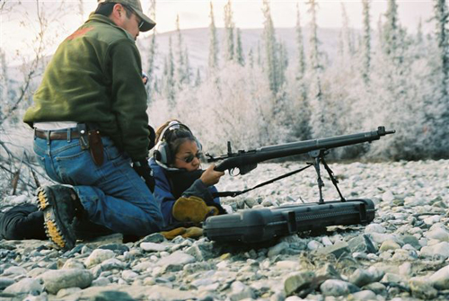 Learning gun safety and marksmanship, 2003.