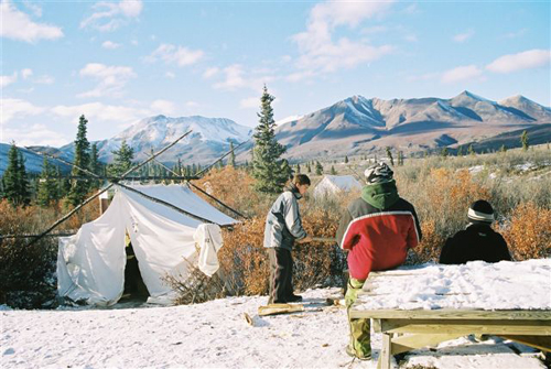 First Hunt camp, 2003.