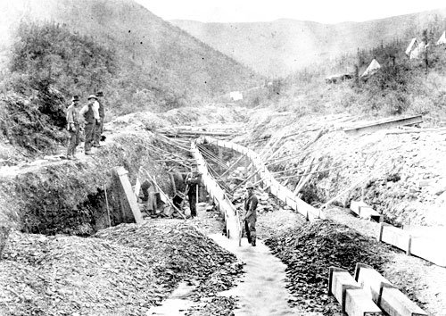 Placer mining on Miller Creek, 1894.