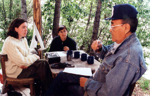 Rachel Olson and Georgette McLeod interview Edward Roberts at Tr'ochëk, 2006.