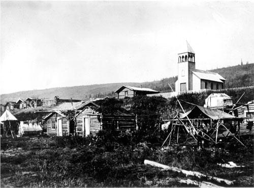 Moosehide village.