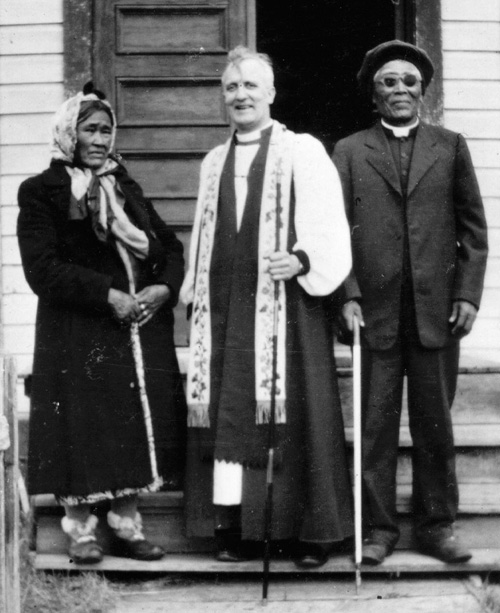 Bishop Tom Greenwood with Reverend and Mrs. Mary Martin, ca. 1950s.