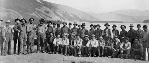 Miners at the mouth of the Fortymile River, 1894.