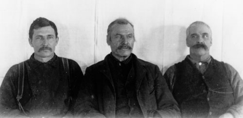 Forty Mile traders Tom O'Brien, Jack McQuesten and Alf Mayo, 1891.